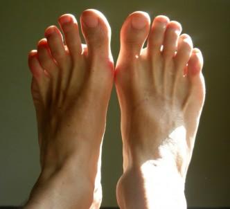 dessus du pied engourdi