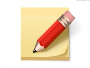 post-it-note-and-pencil-icon-psd-53063